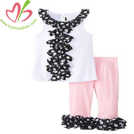 Little Girl Ruffled Tunic Capri Set 12-18 Months