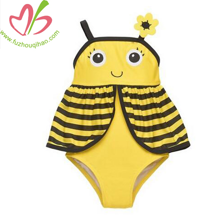 Toddler Girls' Bee One Piece Swimsuit-Yellow/Black