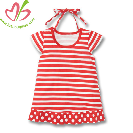 Stripe Cotton Baby Short Sleeves T-Shirts dress