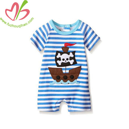 Custom Applique Baby Bodysuit Romper