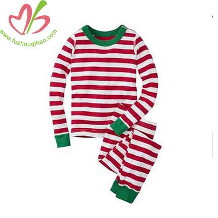 Custom Unisex Children Pajamas Set-Green and Red
