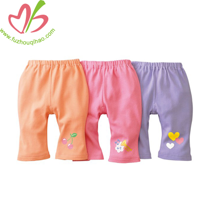100%cotton lovely soft hand feel baby long pants