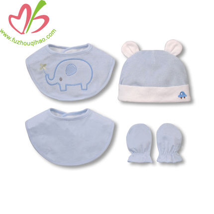 Lovely 100% Cotton Clothing Sets,Baby Bib.Baby Cap