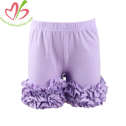 Baby Ruffle Short Aqua Color Baby Shorties