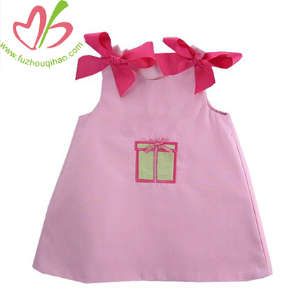 Baby Toddler Dress with Bow-A line