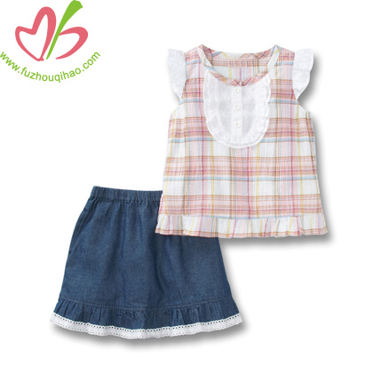 Cute And Fashion Baby Suits Top And Skirts
