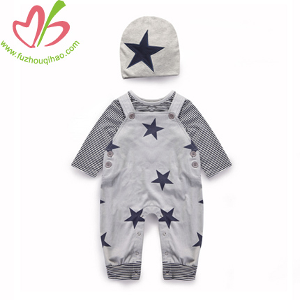 Spandex/Cotton Baby Boy's Outfit Set-3pcs