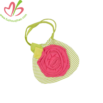 Stripe Girl's Handbag with Flower