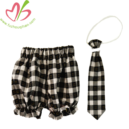 Newborn Baby Boy Bloomer Short Sets With Tie