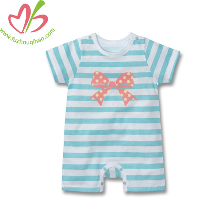 Kids Baby Girls sleeves Romper Mint-12 Months