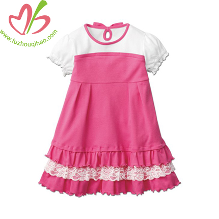 Newest Organic Cotton Children Girls Smocked Frock Design Dress