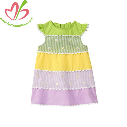 Colorful Girl's Party Dress