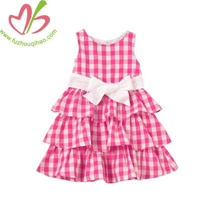 Gingham Boutique Girl's Dress with Lining