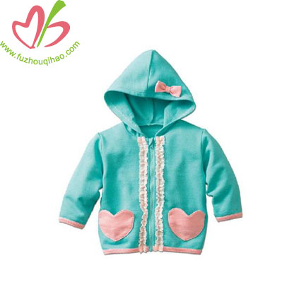 French Terry Girl's Jacket with Hoodie