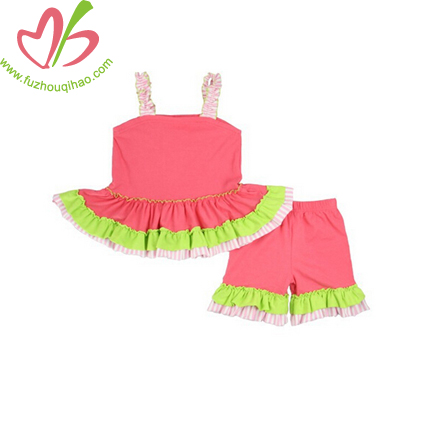 Coral Infant Girl's Shorts Legging Sets