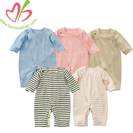 Custom Design Organic Cotton Baby Overalls