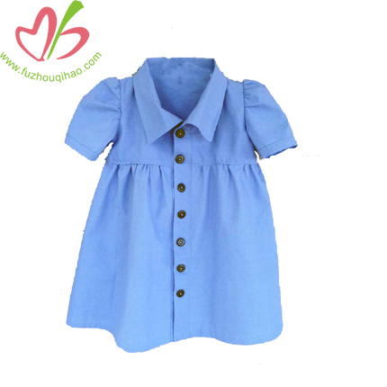 Blue Baby Shirt Sundress
