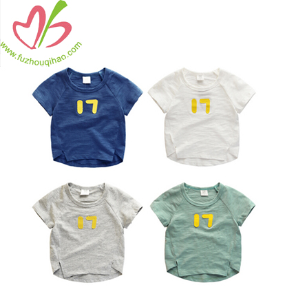 70d8cf54 Customized Baby Boys clothing Applique Printed T-Shirt Soft Cotton