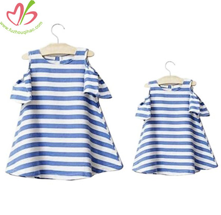 Stripe Mommy and Daugther Dresses