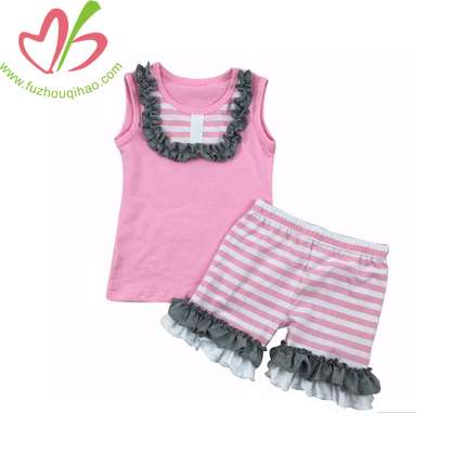 Girl's Ruffle Tees with Shorts Outfits
