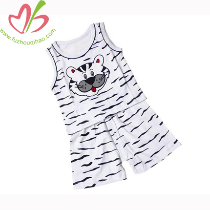 Tiger Printing Boy's Tank and Short Set
