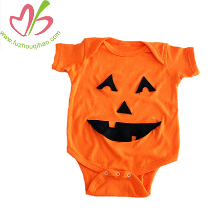 100% Cotton Halloween Short Sleeve Baby Romper