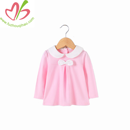 Wholesale 100% cotton baby girls T-shirt plain kids tee shirt