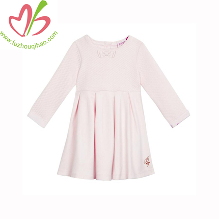 Beautiful Girl Winter Dress Pink Cotton Children Formal Dresses For Wedding And Pary Dresses Ready