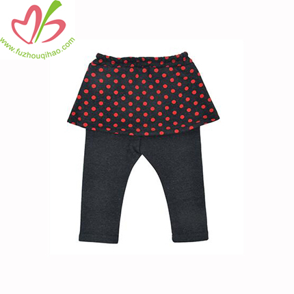 Baby Warm Pants Baby Girls Trousers Winter Legging Pants with Dot Print