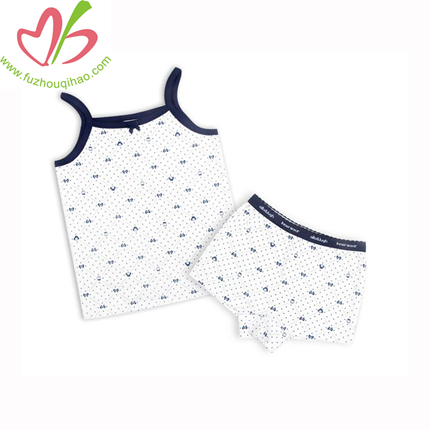 100% Cotton Baby Top and Bloomer, Baby Vest and Underwear Sets