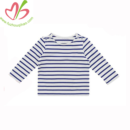 Black White Stripe Patterns Baby Girls Valentine Shirts Children Cotton Valentines Day Long Sleeve Shirt