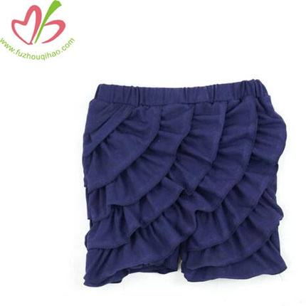 Girls Multilayer Ruffle Shorts