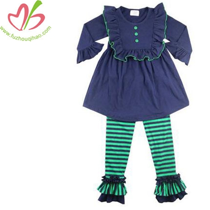 Girls Ruffle 2pcs Outfit Long Sleeve Top &Pant