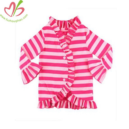Spring Valentine's Children Hot Pink Stripe Shirt