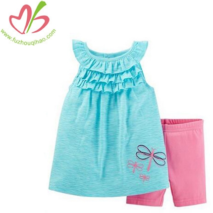 Baby Girl's 2pcs Ruffle Capri Legging Sets