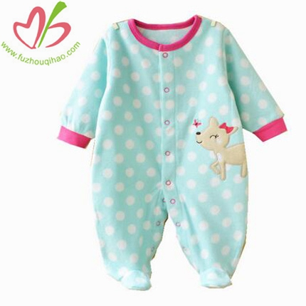 Baby's Cute Long Sleeve Polka Dots Onesies