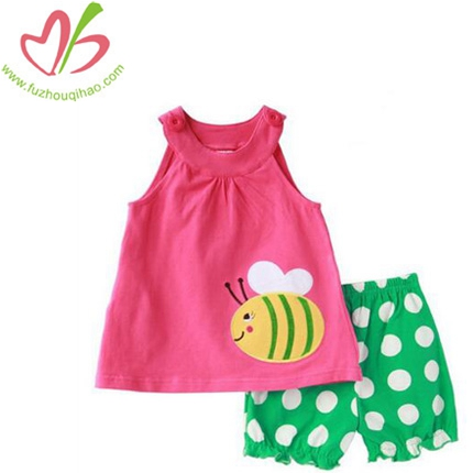 Girl's Lovely Bee 2pcs Outfit