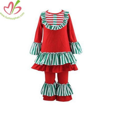 Christmas Color Girl's Matched Clothes Set
