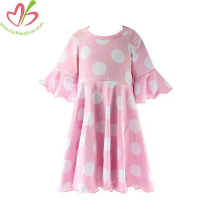 Big Bulk 3/4 Sleeves Polkadot Sewing Dress