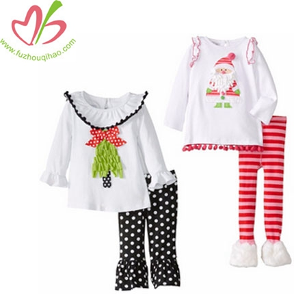 Ruffle Girl's Christmas Santa Outfits