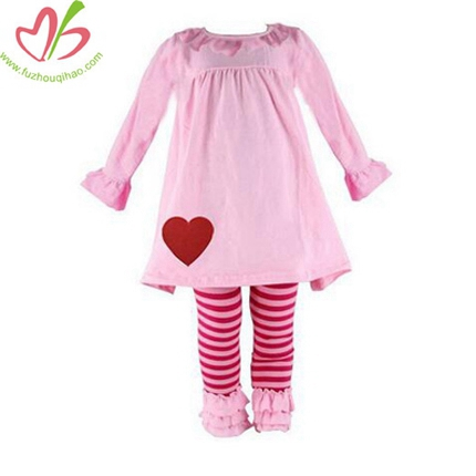 Ruffle Pants Sets Lovely and Cute Valentine Boutique Outfits