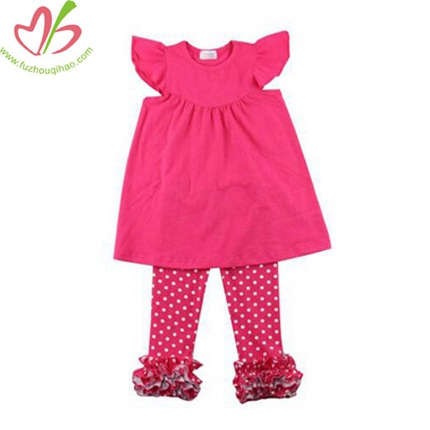Hot Sale Valentines Girls Outfit Newest Cotton Spring Clothes
