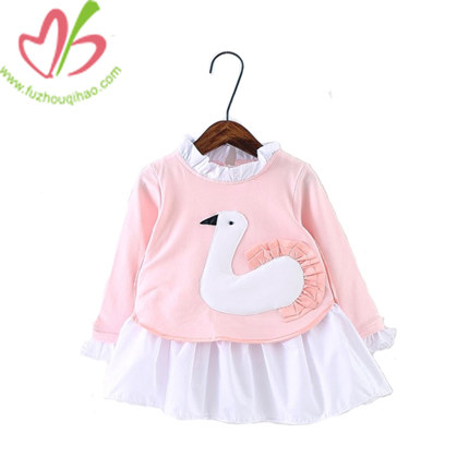 Girl Dress Sets with Small Ruffles, Winter Girl Hoodie Sets with Applique