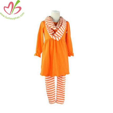 Girls's 3 pcs Clothing Set with Scarf
