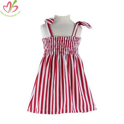 Cotton Vertical Stripe Baby Girls' Dress