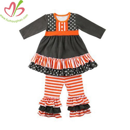 Orange Children Boutique Ruffle Leggings Sets