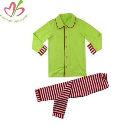 Apple Green Unisex Children Pajamas Set