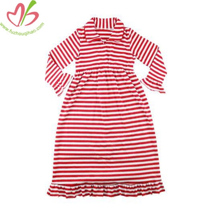 Red Stripe Girl's Nightgown