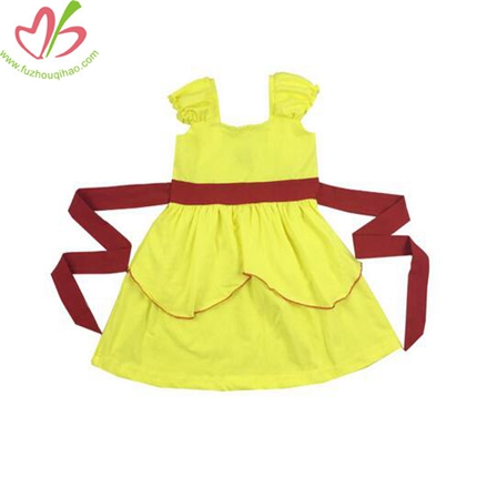 Girl's Party Dress with Belt