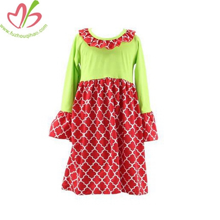 Wholesale Diamond Print Girl's Boutique Dress